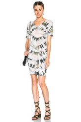Raquel Allegra Fitted Dress In Ombre And Tie Dye Green