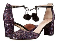Kate Spade Abigail Purple Multi Glitter Black Nappa Women's Shoes
