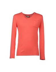 Red Soul V Necks Coral