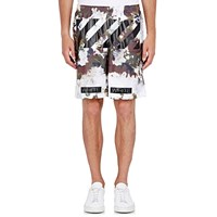 Off White C O Virgil Abloh Camouflage Basketball Shorts Green