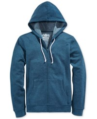 American Rag Men's Big And Tall Faux Fleece Full Zip Hoodie Only At Macy's Riviera Blue Heather