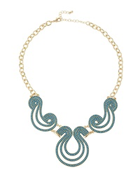 Fragments For Neiman Marcus Fragments Beaded Scroll Bib Necklace Turquoise