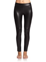 Wolford Estella Faux Leather Leggings Latte