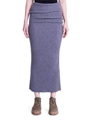 Stella Mccartney Knit Wool Maxi Skirt Wolf Grey