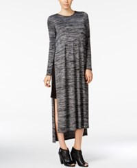 Kensie Space Dyed Layered Tunic Black Combo