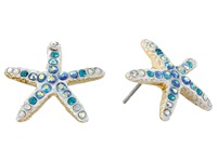 Betsey Johnson Into The Blue Starfish Stud Earrings White Earring