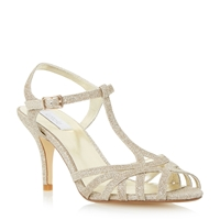 Untold Mariselle Strappy Mid Heel Sandal Gold