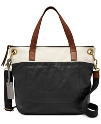Fossil Keely Tote Black White