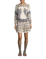 Free People Shirred Drop Waist Peasant Dress White