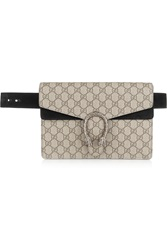 Gucci Dionysus Coated Canvas And Suede Belt Bag