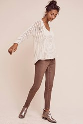 Anthropologie Level 99 Janice High Rise Ultra Skinny Jeans Brown