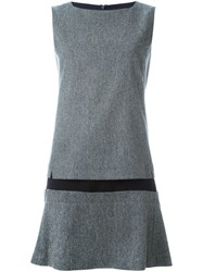 Jil Sander Navy Low Waist Sleeveless Dress Grey