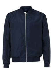 Topman Navy Lightweight Bomber Jacket Blue