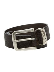 Armani Jeans Belt With Logo Brown