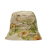 Engineered Garments Bucket Hat Khaki Floral Print Linen