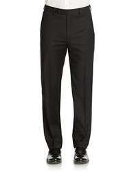 Calvin Klein Slim Fit Wool Trousers Black