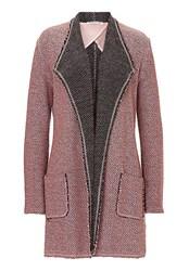 Betty Barclay Long Textured Cardigan Pink