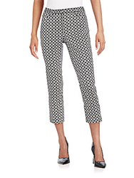 Andrea Jovine Geo Print Stretch Cotton Cropped Pants