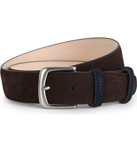 Duchamp Classic Suede Leather Belt Brown