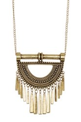 Stephan And Co Metal Pendant Necklace Metallic