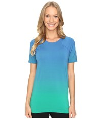 Brooks Streaker Short Sleeve Top Wave Parque Women's Short Sleeve Pullover Blue