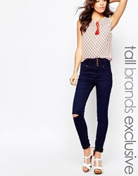 New Look Tall High Waisted Ripped Skinny Jean Blue