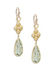 Jude Frances Green Amethyst Diamond And 18K Yellow Gold Quilted Kite Drop Earrings Gold Green
