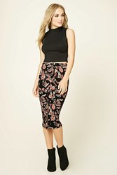 Forever 21 Contemporary Abstract Skirt Black Pink