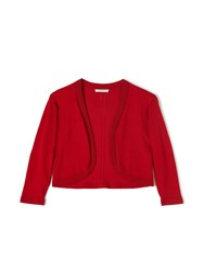 Precis Petite Mackenzie Knitted Red Shrug Red