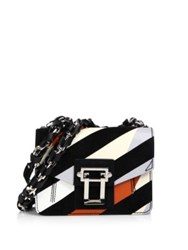 Proenza Schouler Hava Patent Leather And Suede Chain Crossbody Bag Black Multi
