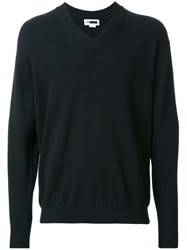 H Beauty And Youth. V Neck Jumper Black