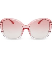 Prabal Gurung Pg23 Oversized Sunglasses Deep Burgundy