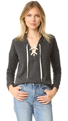 Maven West Tyler Lace Up Sweatshirt Charcoal