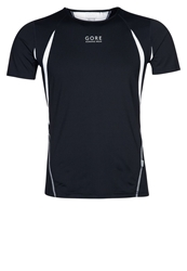 Gore Running Wear Air 2.0 Sports Shirt Black White