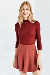 Silence And Noise Spin City Knit Skater Skirt Rust