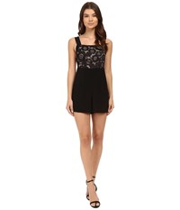 For Love And Lemons Sonya Romper Black Women's Jumpsuit Rompers One Piece