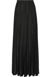 Missoni Pleated Metallic Stretch Knit Maxi Skirt Black