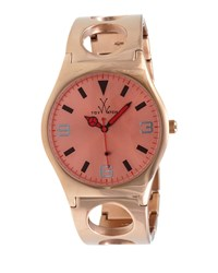 Toy Watch Toywatch Cuff Only Time Stainless Steel Watch Rose Golden
