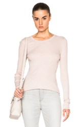 Enza Costa Rib Fitted Crew Tee In Neutrals