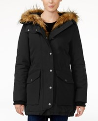 Levi's Faux Fur Trim Hooded Parka Black