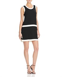 M Missoni Colorblock Drop Waist Shift Dress Black