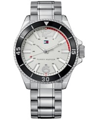 Tommy Hilfiger Watch Men's Essential Silver Tone Mixed Metal Bracelet 1790749