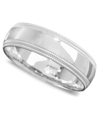 Macy's Men's 14K White Gold Ring Comfort Band Size 6 13