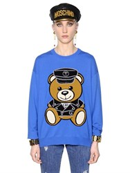Moschino Teddy Bear Intarsia Merino Wool Sweater