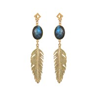 Brave Lotus Gold Of The Night Jewel Earrings