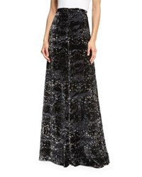 Haute Hippie Psycho Velvet Burnout Wide Leg Pants Psycho Burn Out