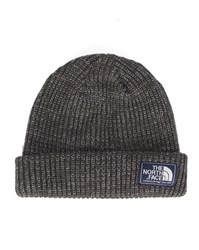 The North Face Mottled Grey Beanie Dog Large Stitch Patch Logo Hat
