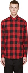 Dsquared Red And Black Check Shirt