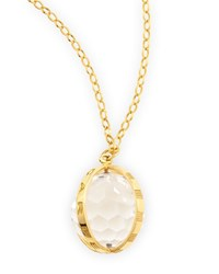 Extra Large 18K Gold Carpe Diem Pendant Necklace 30 L