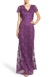 Ellen Tracy Women's Lace Gown Plum